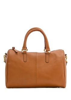 MANGO - BAGS - TOUCH - Leather bowling handbag