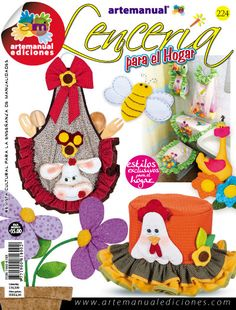ARTEMANUAL EDICIONES - REVISTA CULTURAL PARA LA ENSEÑANZA DE LAS MANUALIDADES - Book Crafts, Gift Baskets, Diy, Quilts, Christmas Ornaments, Holiday Decor, Creando Ideas, Fabric, Pattern