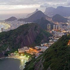 Rio de Janeiro view from Sugarloaf Mountain, Brazil (by Porter Yates).Rios coastline is one of the most beautiful in the world. I have been to Sugar Loaf Mountain and would go to Rio in a heartbeat! Places Around The World, Oh The Places You'll Go, Travel Around The World, Places To Travel, Travel Destinations, Places To Visit, Around The Worlds, Travel Stuff, Vacation Places