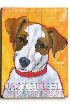 Jack Russell Terrier by Pet Art Shop on @HauteLook