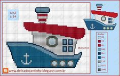 This Pin was discovered by Анн Cross Stitch Sea, Cross Stitch For Kids, Cross Stitch Charts, Cross Stitch Patterns, Cross Stitching, Cross Stitch Embroidery, Crochet Cross, Pattern Illustration, Baby Knitting
