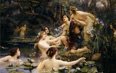 Rae - Water Nymphs (color) - Potamides (mythology) - Wikipedia