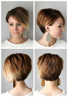 ONE little MOMMA: Short Hair Tutorial- Styling a Long Pixie for Everyday
