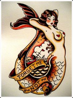30 Fantastic Mermaid Tattoo Designs | http://www.barneyfrank.net/30-fantastic-mermaid-tattoo-designs/