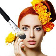 Professionelle Frauen Schönheit Gesichts synthetische bilden Pinsel Kosmetik Pinsel wet Powder Foundation Pinsel Schönheit Werkzeug pincel maquiagem