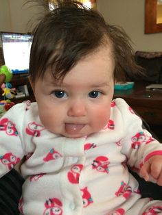 Miss MADELINE is rockin' the bedhead while she waits for her breakfast! Enter her name in your voucher tab for 5 extra entries. #PLNBabyoftheDay #CLB2