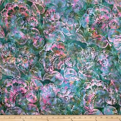 Designed for Hoffman International Fabrics, this Indonesian batik is perfect for quilting, craft projects, apparel and home décor accents. Colors include shades of emerald, orchid, pink, orange, and blue.