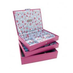 Set 3 cutii bijuterii, Flora Rosa, by Stackers Jewelry Tray, Jewellery, Treasure Boxes, Office Decor, Hot Pink, Decorative Boxes, Trays, Gifts, Martie