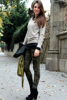 Militar  , Zara in Ankle Boots / Booties, Prada in Bags, Zara in Pants, Mulaya in Sweaters, Zara in Jackets