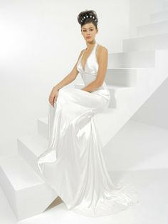 Organdy Deep V-Neckline Ruched Bodice A-line Wedding Dress