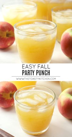 Fall Party Punch by The Toasty Kitchen #fall #party #punch #punchrecipe #drink #nonalcoholic #fruity #apple #pineapple #recipe #drink #punchbowl #autumn #halloween #thanksgiving Halloween Appetizers, Halloween Drinks, Halloween Food For Party, Halloween Desserts, Christmas Snacks, Christmas Appetizers, Non Alcoholic Punch, Recipe Maker, Spiced Rum