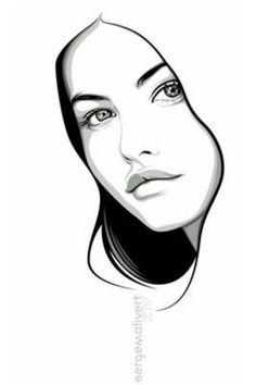 Art Pop, Pop Art Drawing, Pop Art Design, Pencil Art Drawings, Art Drawings Sketches, Drawing Ideas, Drawing Faces, Drawing Tips, Cartoon Drawings