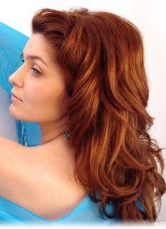 auburn red hair colour