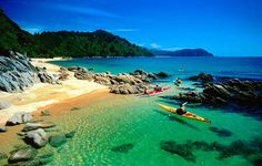 Sea Kayaking - Abel Tasman, Nelson, New Zealand. So many places to go! It's a magical experience! The Places Youll Go, Places To Visit, Nelson New Zealand, Nz South Island, Abel Tasman National Park, Walking Holiday, Flora, New Zealand Travel, Adventure Is Out There