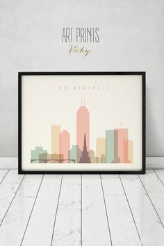 Indianapolis print, Poster, Wall art, Indiana cityscape, Indianapolis skyline, City poster, Typography art, Digital Print, ART PRINTS VICKY.