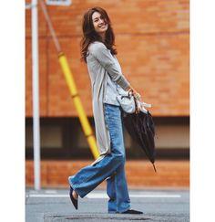 定番コーデの鮮度をあげるなら、着流しロングカーデに決まり!Marisol ONLINE|女っぷり上々!40代をもっとキレイに。