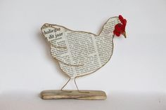 Hobbies And Crafts, Diy And Crafts, Arts And Crafts, Deco Champetre, Chicken Crafts, Fabric Birds, Wire Crafts, Wire Art, String Art