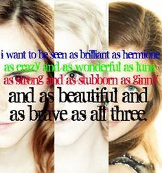 Hermione, Luna, Ginny