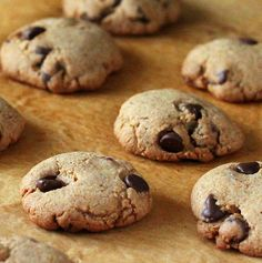 Chocolate Chip Cookies. Whole grain, low-fat, vegan!