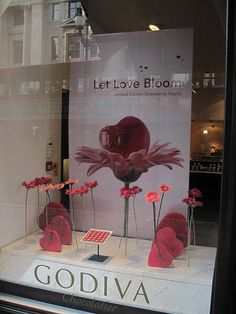 Godiva Valentines Day window display 2012