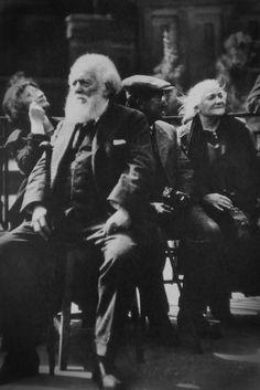 Clara Zetkin and Sen Katayama on Red Square, Moscow 1925. Political images, Soviet Photographs