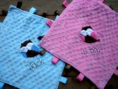 blanket with tags