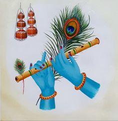 Size : 13x13 In Medium : Acrylic Color Surface : Canvas Radhe Krishna Wallpapers, Lord Krishna Wallpapers, Krishna Drawing, Krishna Painting, Lord Ganesha Paintings, Ganesha Art, Baby Krishna, Cute Krishna, Kerala Mural Painting