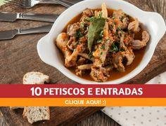 10 petiscos e entradas deliciosos - Descubra receitas deliciosas, truques, dicas, cursos, o Blog Culinária A-Z e muito mais!