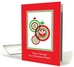 That time of year is just around the corner ... purchase your Christmas Party Invitations early and get that chore out of the way! http://www.greetingcarduniverse.com/invitations/christmas-holiday-party/general/christmas-party-invitation-red-and-green-1405940?gcu=42124323685