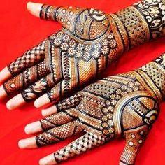 beautiful henna Mehandi Designs for brides-to-be Simple Arabic Mehndi Designs, Full Hand Mehndi Designs, Stylish Mehndi Designs, Mehndi Designs 2018, Mehndi Designs For Girls, Mehndi Design Photos, New Bridal Mehndi Designs, Beautiful Mehndi Design, Dulhan Mehndi Designs