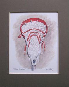 lacrosse stick art