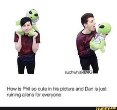 I bet Dan does that to Phil when it's just the two of them. I will just throw myself away now *goes into my trashcan*<==*throws Twilight in trash can* wait what are you doing here, fellow phan? Dan And Phil Memes, Phil 3, Phan Memes, Phan Is Real, Dan And Phill, Danisnotonfire And Amazingphil, Tyler Oakley, Dodie Clark, Phil Lester