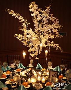 White Florals on 4ft Metal Tree