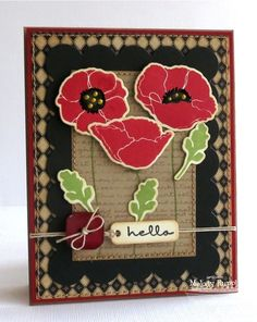 Pretty Poppies, Poppies and Leaves Die-namics, Blueprints 1 Die-namics - Melody Rupple