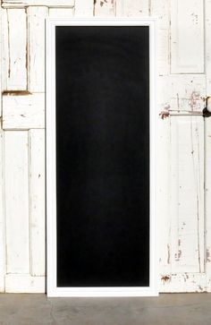 Large Chalkboard in Distressed White Frame by AlyandCompanyToo, $79.00
