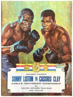 2bc551ffe4eb Sonny Liston vs Cassius Clay Heavyweight Championship Fight Souvenir Program