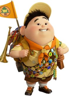 Russell from Pixar Movie Up Up Pixar, Pixar Movies, Russell Up Movie, Russel Up, Russell From Up, Disney Up, Disney Love, Disney Pixar, Up Movie Characters