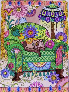 Creative Haven Creative Cats Coloring Book (Creative Haven Coloring Books): Marjorie Sarnat:  By Jules Cote on Oct 20, 2015