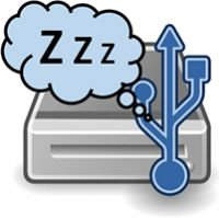 On Windows machines hard drives automatically sleep and spin down when they are not in use. This theoretically extends the life of your USB or SATA hard dr