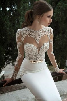 Hey future brides, here is another amazing bridal collection. It is Berta Bridal Winter a wonderful collection of long sleeve wedding dresses. Long Sleeve Wedding, Wedding Dress Sleeves, Dress Lace, White Dress, Lace Sleeves, Lace Bodice, Tulle Lace, Lace Dresses, Weeding Dress