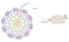 까꿍~^^오랜만에 코바늘 포스팅입니다^ 전에 티코스터를 올린적있었는데요티코스터도안에 이어 북마크 도안... Crochet Leaves, Knitted Flowers, Crochet Mandala, Crochet Chart, Filet Crochet, Crochet Home, Diy Crochet, Doily Patterns, Crochet Patterns