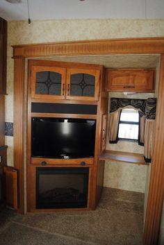Swivel mounted HD TV, electric fireplace and desk area. Fireplace Drawing, Fireplace Art, Fireplace Update, Small Fireplace, Desk Areas, Electric Fireplace, Keystone Montana, Tv, Bedroom