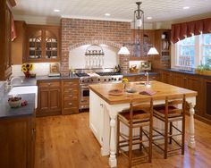 Medium brown cabinets kitchen kitchen traditional with bin pulls glass front cabinets