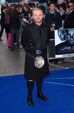 That is Simon Pegg. And a kilt. That is Simon Pegg wearing a kilt. I can't handle this much awesome in a single picture. Celebrity Gossip, Celebrity News, Simon Pegg, Men In Kilts, Extraordinary People, Irish Men, Famous Men, Stylish Men, Role Models