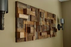 "reclaimed wood art | Custom Made Reclaimed Wood Wall Art 48""X19""X3.5"" Made Of Barnwood"