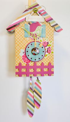 Adorable Cuckoo Clock from paper! (made by Jenny Chesnick)