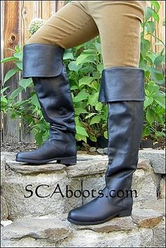 Mens Sir Henry Leather Thigh and Knee Boots