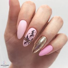 Expand style to your nails with the help of nail art designs. Used by fashion-forward celebs, these nail designs can add instant style to your wardrobe. Love Nails, Pink Nails, Pretty Nails, My Nails, Simple Nail Art Designs, Beautiful Nail Designs, Beautiful Nail Art, Acrylic Nail Art, Acrylic Nail Designs