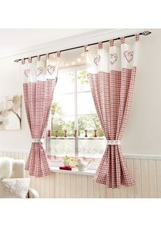 There are different types of curtains with different concepts, for example, in this picture you can make the curtains of your favorite cooking area curtains for windows # kitchen curtains # kitchen curtains inspirations # kitchen curtains ideas Kitchen Curtains And Valances, Farmhouse Curtains, Home Curtains, Rustic Curtains, Bathroom Curtains, Nursery Curtains, Curtains Living, Country Curtains, Curtain Patterns