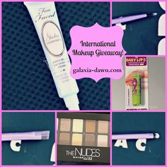 International Makeup Giveaway on my blog!   makeup | giveaway  | too faced | maybelline | real techniques | baby lips | the nudes | shadow insurance | beauty | luxury | drugstore